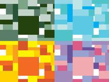 Naadloos patroon van blokken Royalty-vrije Stock Foto