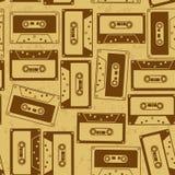 Naadloos patroon van cassettes Stock Afbeeldingen