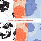 Naadloos patroon van chrysant Royalty-vrije Stock Afbeelding