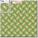 Naadloos patroon van cirkelringen of schijven die worden overlapt royalty-vrije illustratie