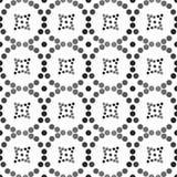 Naadloos patroon van cirkels en diamanten Stock Foto