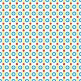 Naadloos patroon van cirkels en lijnen Royalty-vrije Stock Afbeeldingen