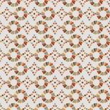Naadloos patroon van cirkels, retro diamanten Stock Afbeeldingen