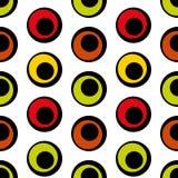 Naadloos patroon van cirkels in retro stijl Stock Afbeeldingen