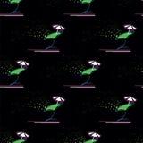 Naadloos patroon van cocktails Stock Afbeeldingen