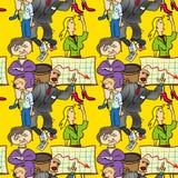 Naadloos patroon van comedic Stock Foto's