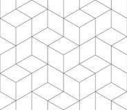 Naadloos patroon van contouren vector illustratie
