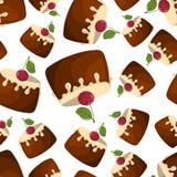 Naadloos patroon van cupcake Stock Foto