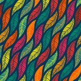 Naadloos patroon van dalende gekleurde bladeren Stock Foto's