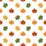 Naadloos patroon van de bladeren van de Herfst Dit is een 4 tegelherhaling van het patroon Stock Afbeelding