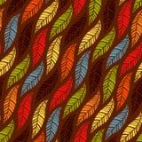 Naadloos patroon van de herfstbladeren Stock Foto