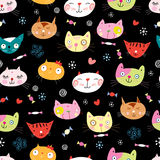 Naadloos patroon van de katten Royalty-vrije Stock Foto's