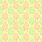 Naadloos patroon van de overladen eieren van Pasen Royalty-vrije Stock Afbeeldingen