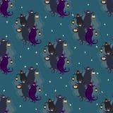 Naadloos patroon 2 van de spokenpartij Stock Afbeelding