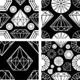 Naadloos patroon van diamant Royalty-vrije Stock Foto's