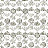 Naadloos patroon van diamant Stock Afbeelding