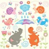 Naadloos patroon van dier royalty-vrije illustratie