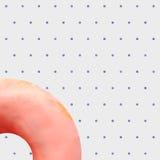Naadloos Patroon van Doughnut op Pastelkleur Dot Background Royalty-vrije Stock Afbeelding