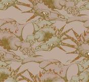 Naadloos patroon van Draak Stock Foto's