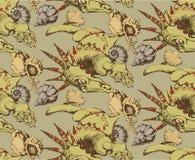 Naadloos patroon van Draak Stock Afbeeldingen