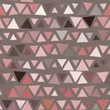 Naadloos patroon van driehoeken, bruine achtergrond Royalty-vrije Stock Foto