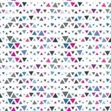 Naadloos patroon van driehoeken, roze en blauw  Stock Foto's