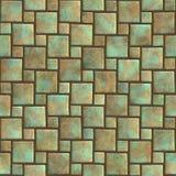 Naadloos patroon van een gestenigde tegel Stock Afbeeldingen