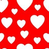 Naadloos patroon van eenvoudige vlakke harten Royalty-vrije Stock Afbeelding