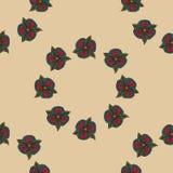 Naadloos patroon van exotische bloemen Stock Afbeeldingen