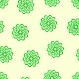 Naadloos patroon van fractals en elementen van omwenteling en torsie in schaduwen Royalty-vrije Stock Afbeeldingen