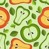 Naadloos patroon van fruit Stock Afbeeldingen