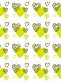 Naadloos patroon van funky harten, vector Royalty-vrije Stock Foto