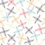 Naadloos patroon van gekleurde bloemblaadjes stock foto