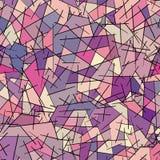 Naadloos patroon van gekleurde geometrische vormen Stock Foto