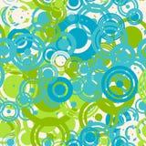 Naadloos patroon van gekleurde ringen Stock Foto