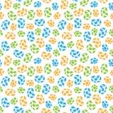 Naadloos patroon van gekleurde whorls tierelantijntjes Stock Afbeelding