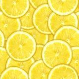 Naadloos patroon van gele citroenplakken royalty-vrije stock foto
