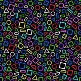 Naadloos patroon van geometrische vormen Partijstijl Stock Foto's