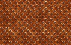 Naadloos patroon van geweven roestig metaal Royalty-vrije Stock Foto
