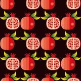 Naadloos patroon van granaatappels Royalty-vrije Stock Foto