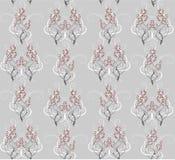 Naadloos patroon van grijze takken Stock Illustratie