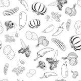 Naadloos patroon van groenten Stock Foto's