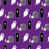 Naadloos patroon 2 van Halloween Royalty-vrije Stock Foto's
