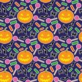 Naadloos patroon 3 van Halloween Royalty-vrije Stock Afbeeldingen