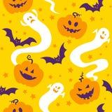Naadloos patroon van Halloween Stock Fotografie