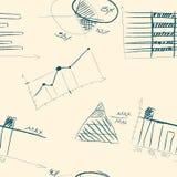 Naadloos patroon van hand-drawn infographic elementen Royalty-vrije Stock Foto