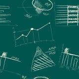 Naadloos patroon van hand-drawn infographic elementen Stock Afbeelding