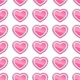 Naadloos patroon van harten Stock Afbeelding