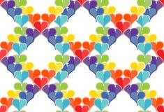 Naadloos patroon van harten Royalty-vrije Stock Fotografie
