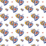 Naadloos patroon van harten Stock Afbeeldingen